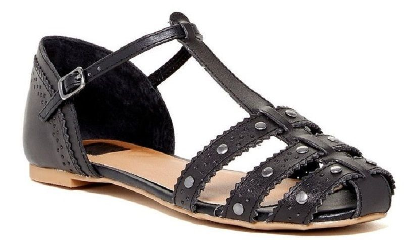 Primary image for Dv By Dolce Vita Womens Zina Stella Manmade Leather Sandal Black Size 6.5 US