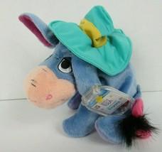 Disney Winnie the Pooh Shade Lovin' Eeyore Plush Hat Star Bean Mattel Ne... - $13.45