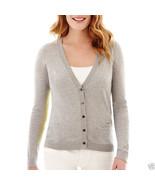 Liz Claiborne Long-Sleeve Colorblock Cardigan Sweater Size L New Msrp $45 - $12.99