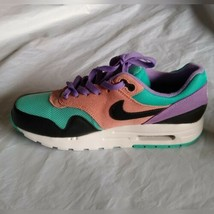 Nike Boy's Air Max 1 NK Day (GS) Black White Space Purple Sneakers Size 7Y - $133.23