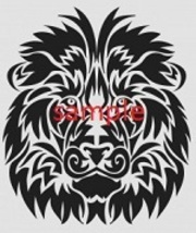 Tribal Lion Head 1 Cross Stitch Chart - $8.00