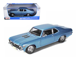 1970 Chevrolet Nova SS Coupe Blue Metallic 1/18 Diecast Model Car by Maisto - $47.00