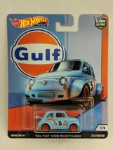 Hot Wheels Gulf 60s Fiat 500D Modificado - $9.89