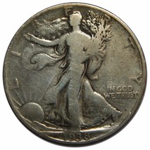 1938D Walking Liberty Half Dollar 90% Silver Coin Lot# EA 100