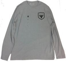 Under Armor Men's Brahma Bull Never Full Long Sleeve Shirt Grey Medium - $32.66