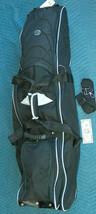 "Sears 48"" rip stop nylon black wheeled padded golf club travel bag - $54.63"