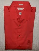 Mens Van Heusen No Iron Lux Sateen Dress Shirt Large 16 34/35 Sunset NWT - $19.99