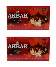 2 x Akbar Premium Quality Ceylon Tea 100 Enveloped Tea Bags, 200g each - $34.99