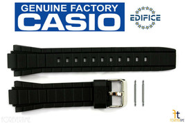 CASIO EFR-519 Edifice Original 20mm Black Rubber Watch Band Strap w/ 2 Pins - $39.55
