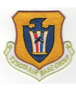 AIR FORCE 7350TH AIR BASE GROUP CREST MILITARY EMBROIDERED JACKET PATCH - $23.74