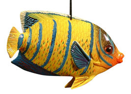 Carribean Reef Tiki Bar Tropical Fish Christmas Ornament 4 Inch ORN36 - $15.98