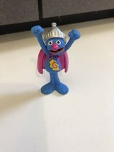 "Tyco sesame  Super Grover Muppets PVC Toy Figure cup cake topper 1997 2-3/4"" Tal - $14.80"