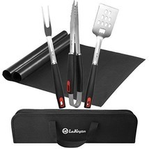 LauKingdom BBQ Grill Tool Set Stainless Steel Barbecue Grilling Utensils... - £30.85 GBP