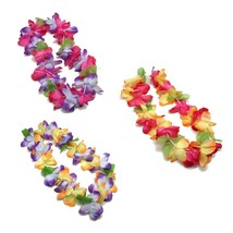 Amazing Hawaiian Faux Flower Leis, luau /Tiki Party Decor, Tropical Beac... - $11.75