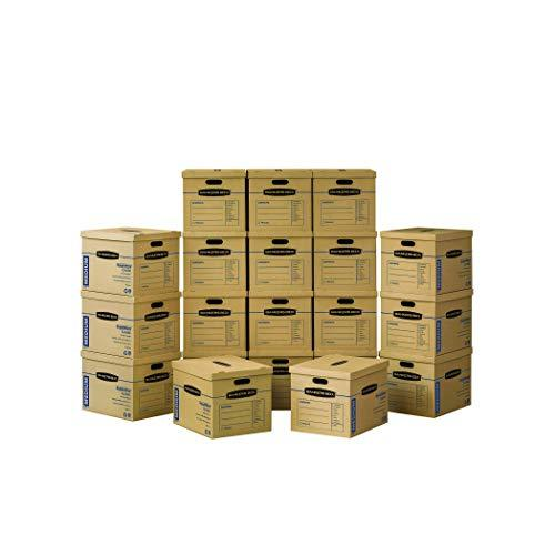 Bankers Box SmoothMove Classic Moving Boxes, Tape-Free Assembly, Easy Carry Hand - $109.28