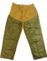 Bushmaster Mens 34x28 Tan Green Brush Duck Water Repellant Nylon Hunting... - $29.69