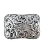 Southwestern Floral Design Sterling Silver Plated Decorative Cowboy Belt... - $11.53