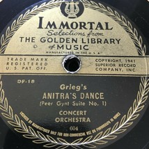 Grieg's Anitra's Dance / Liszt's Liebestraum 78 RPM - $57.50