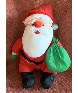 Puffy Nylon Santa Claus Plush Decoration 1992 Holidays Gibson Greetings ... - $16.82