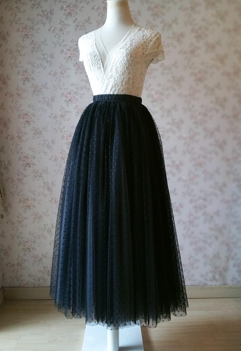 Polka dot dress skirt 780 1