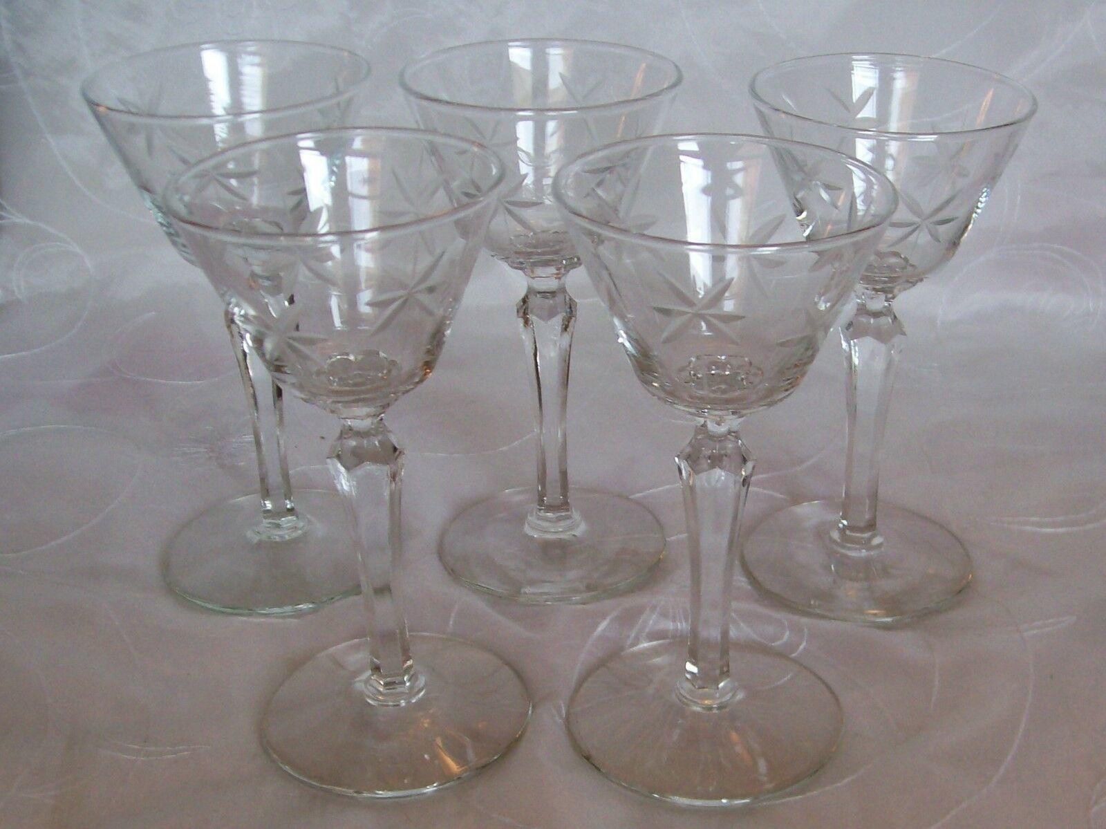 "s Libbey Rock Sharpe Normandy 3005 Stem 6 ¾"" Tall Wine Goblet"