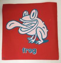 Cranium Hullabaloo Childrens Game Red Frog Toad Square Foot Mat Floor Pa... - $5.94