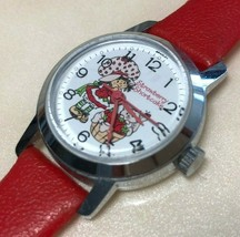 Vintage Strawberry Shortcake Lady Silver Red Hand-Winding Mechanical Wat... - $17.09