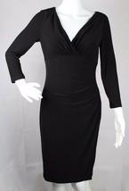 Lauren Ralph Lauren women's dress formal black 3/4 sleeve size 2 - $21.78