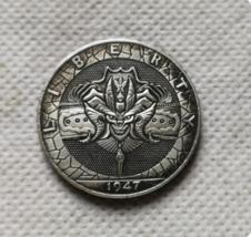 New Hobo Half Dollar Diablo Devil Satan Lucifer Hell Carved US Casted Coin - $10.44
