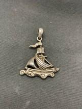 925 Silver Ship Pendant Necklace  - $33.23