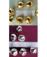 "1000 Bright Shiny Metal JINGLE BELLS ~ 25mm (1"") 500 SILVER + 500 GOLD C... - $97.31"
