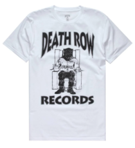 Authentic Men's Death Row Records Black Official Logo Licensed T-Shirt White S image 3