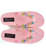 Girls GRANDCO Sandals Beaded Jeweled Pink SZ 13 Youth 7.5 in Long Beach ... - £18.10 GBP