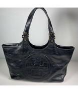 Tory Burch Bombe Black Leather Tote Handbag - $186.64