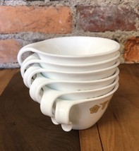 VTG Corelle Cups Corning Ware Gold Butterfly Lot of 6 Nesting Hook Handl... - $34.29