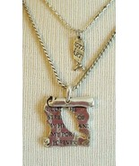 "16"" CHRISTIAN SCROLL PENDANT NECKLACE, GOD IS THE STRENGTH OF MY HEART, ... - $7.23"