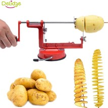 Manual Potato Slicer Spiral Stainless Steel Cutter Rotating Machine Mult... - €18,65 EUR