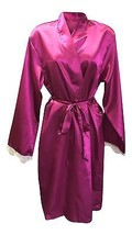Ladies Womens Sexy Luxury Satin Long Sleeve Night Robe Dressing Gown Wrap Kimono - $23.01