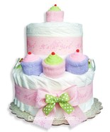 It's A Girl! Mini Diaper Cake - $75.00