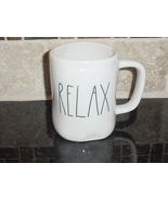 Rae Dunn RELAX Mug, Ivory with Black Lettering - $12.00