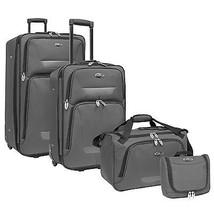 US Traveler Westport 4-Piece Gray Light Expandable Rolling Luggage Suitc... - $79.19