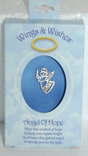 DM Merchandising Wings Wishes Hope Angel Silver Colored Rhinestone Flame
