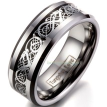 "Men""s Celtic Dragon Inlay Tungsten Carbide Ring Engagement/wedding B - $30.00"