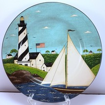 "Sakura Coastal Breeze Salad Plate 8.25"" Nautical Design by Warren Kimble - $5.42"