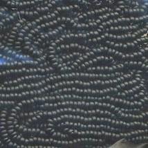 Seed bead rocaille full hank black thumb200