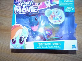 My Little Pony The Movie Rainbow Dash Shimmer Seapony Action Figure Hasb... - $18.00