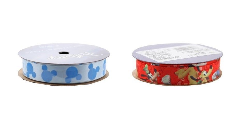 White with Friends Offray Mickey Mouse Craft Ribbon 1 1//2-Inch X 9-Feet