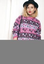 Knit jumper - 90s vintage pink sweater - $34.17