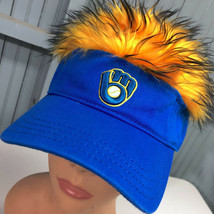 Milwaukee Brewers Novelty Wig Adjustable MLB Baseball Cap Hat - $32.15