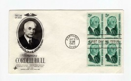 FDC ENVELOPE-HONORING CORDELL HULL- 4BL 1963 ART CRAFT CACHET  BK13 - $1.23